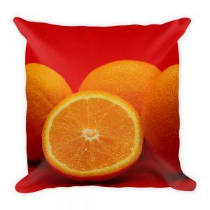 Sierkussen sinaasappel fruit rood