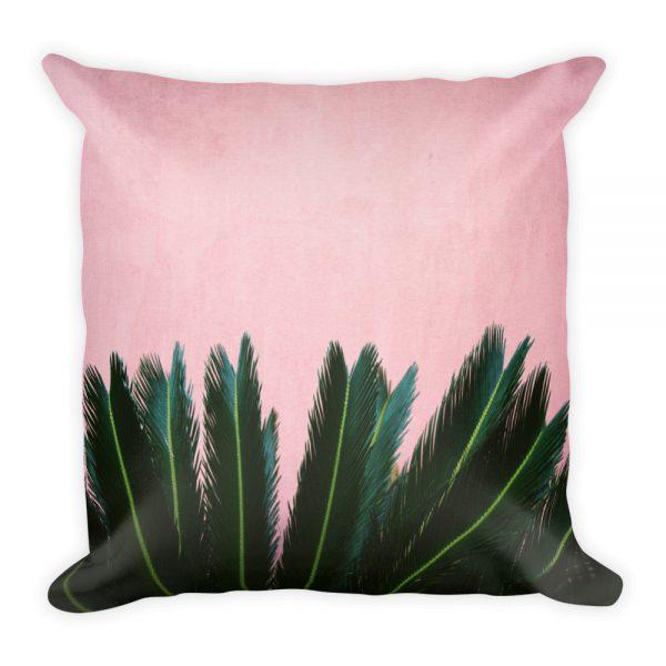 sierkussen roze groen