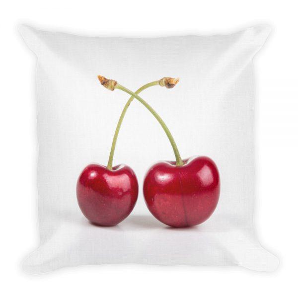 sierkussen kersen wit rood fruit