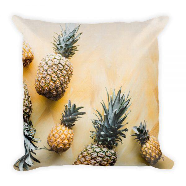sierkussen geel ananas fruit