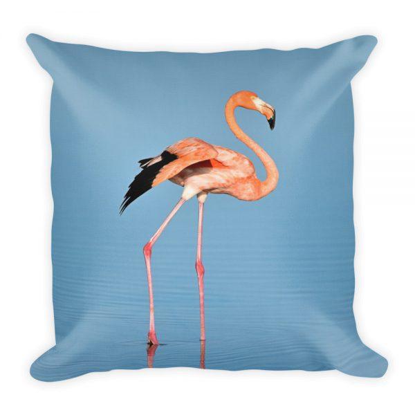 sierkussen flamingo dier blauw