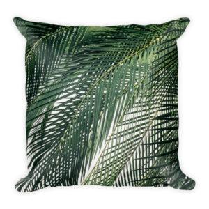 sierkussen palmbladeren