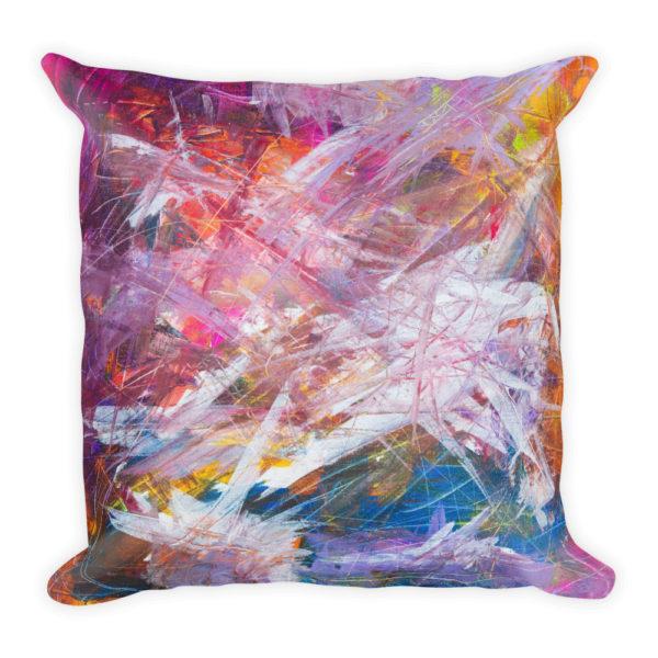 sierkussen abstract kleuren verf