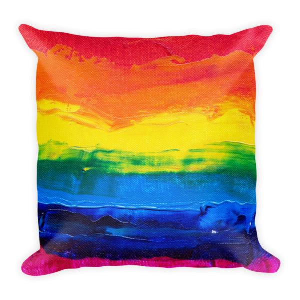 sierkussen regenboog