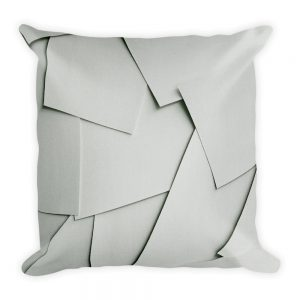 sierkussen vierkant wit papier