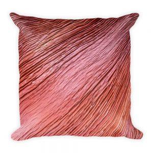 sierkussen vierkant rood hout