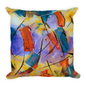 sierkussen kleuren abstract verf