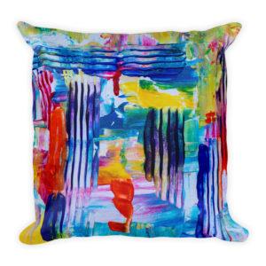 sierkussen kleuren abstract